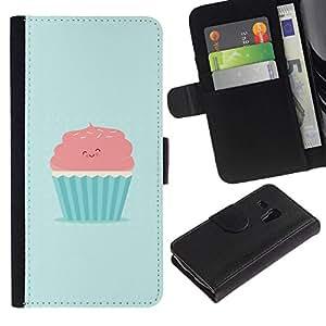 NEECELL GIFT forCITY // Billetera de cuero Caso Cubierta de protección Carcasa / Leather Wallet Case for Samsung Galaxy S3 MINI 8190 // ROSA LINDO Y MAGDALENA AZUL