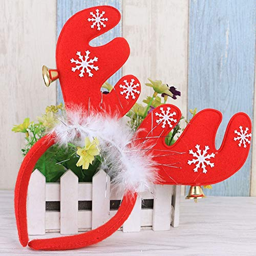 New Year Christmas Decorations Ears with Bells Headband Head Buckle Holiday Dress Props Reindeer Antlers Head Buckle 6A0531]()