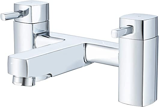 XBMY Waterfall Bath Shower Taps,Mono Dual Lever Bathroom Tub Mixer Tap with Shower Attanchment,Chrome Brass