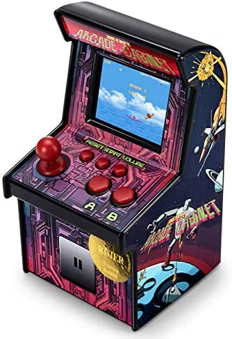 Latest Upgrade Mini Arcade Game Machines for kids with 200 Classic Handheld Video Games home Travel Portable Gaming System Childrens Tiny Toys Novelty Electronics for Boys-Eye Protection NEW VERSION …