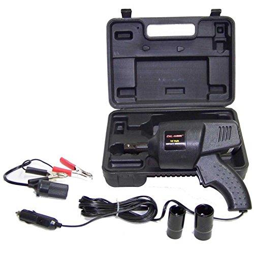 portable 12 volt power impact wrench roadside emergency auto lug nut remover set. Black Bedroom Furniture Sets. Home Design Ideas