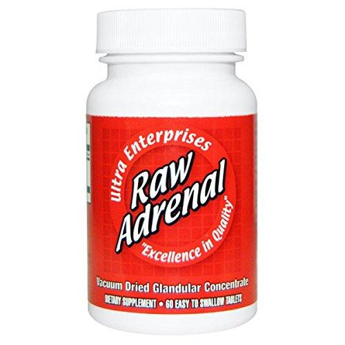 Ultra Glandulars Raw Adrenal Tablets, 200 Mg, 60 Count