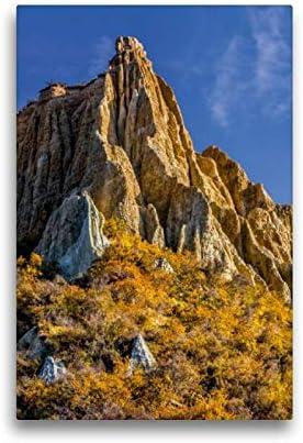Calvendo Tela In Tessuto, 30 Cm X 45 Cm Di Altezza, Mattina All'omarama Clay Cliffs, Nuova Zelanda, Immagine Su Telaio, Pronta Da Appendere, Stampa Su Tela Natur Natura