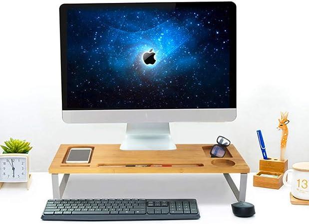 GCX&LV Escritorio Soporte Monitor Madera Canalización Vertical,Impresora de TV Soporte Monitor Multifunción Madera Soporte Pantalla para casa Oficina-A: Amazon.es: Hogar