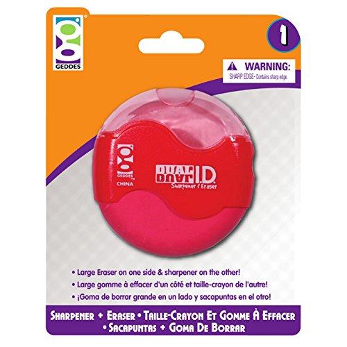 Geddes Home Office Dual ID Sharpener/Eraser - Set of 6 (Heart Pencil)