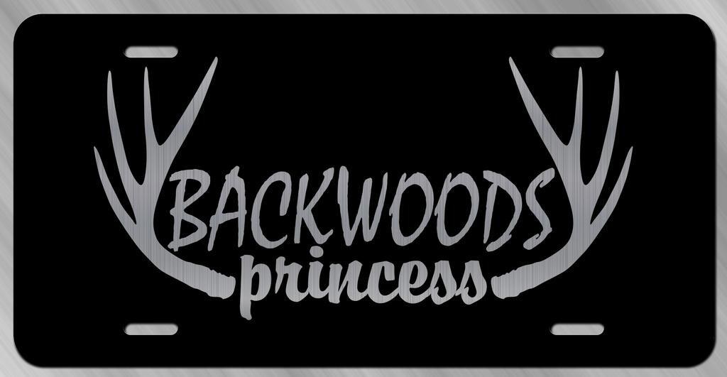 Backwoods Princess Vanity Front License Plate Tag KCE220 KCD