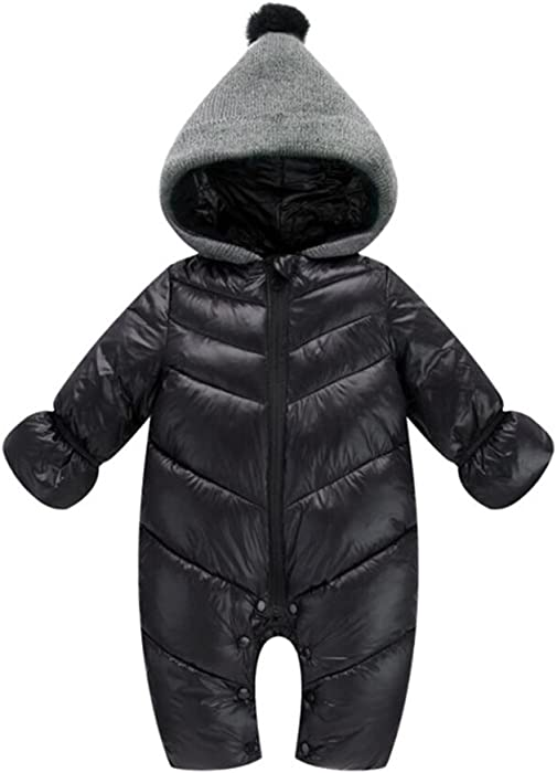 a4e3256ff Amazon.com  Tortor 1Bacha Infant Baby Puffer Snowsuit Pram Bunting ...