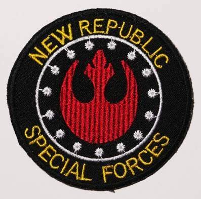 """Star Wars New Republic 3/"""" Wide Embroidered Iron On Patch Set of 3 Patches"""