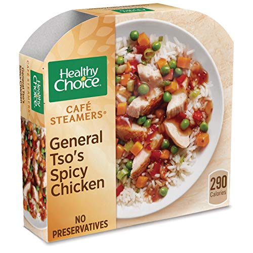(Healthy Choice Cafe Steamers Frozen Dinner, General Tso's Spicy Chicken, 10.3 Ounce)