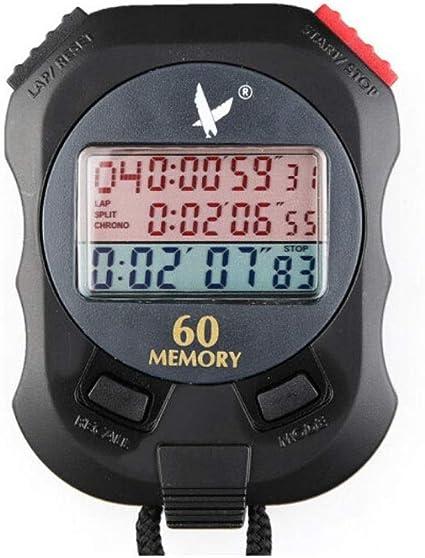 Electronic Stopwatch Timer HENGTONGTONGXUN Stopwatch Single Row 2-Channel Memory Stopwatch Sports Accessories