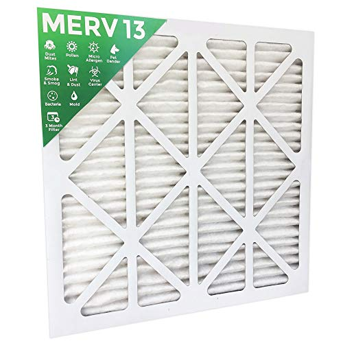 14x20x1 MERV 13 (MPR 2200) Pleated AC Furnace Air Filters. 4 Pack