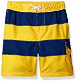 Wippette Baby Boys' Striped Swim Trunk, Yellow, 12M