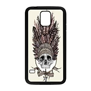 Bloomingbluerose Skull Art Headdress Cases for Samsung Galaxy S5, with Black
