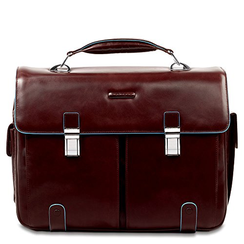 Piquadro Leather Case with 2 Front External Pockets, Mahogany, One Size by Piquadro