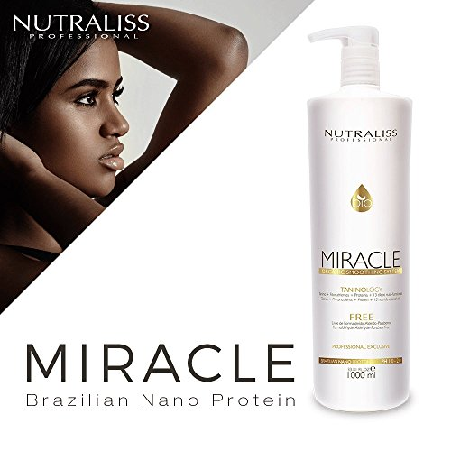 Nutraliss Miracle Brazilian Nano Protein Formaldehyde Free Botox Hair Liter by Nutraliss