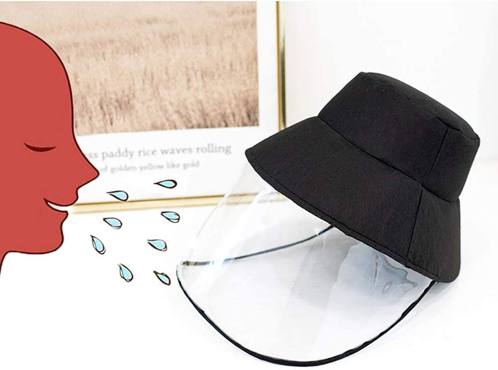 Dust-Proof Protective Bucket Caps Hats Black strimusimak Women Outdoor Anti Droplet Full Face Cover Mask
