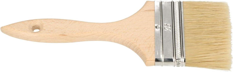 KOTARBAU/® Farbpinsel Mit Holzgriff 63 mm 50 St Alle Gr/ö/ßen Flachpinsel Beizen Lasur Farben Malerpinsel Streichen Lack Acrylfarben Rei/ßfeste Borsten Auswaschbar Uni