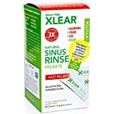 XLEAR Sinus Rinse with Xylitol and Saline Solution, 50 Count