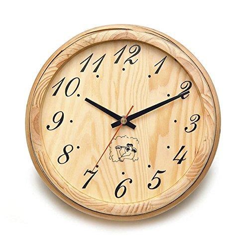 Sauna Finnish Accessories (ALEKO WJ11 Analog Clock for Sauna Handcrafted from Finnish Pine)