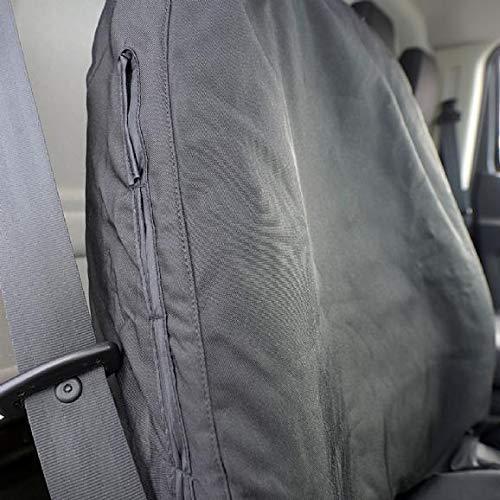 UK Custom Covers SC307B Tailored Heavy Duty Waterproof Drivers Single Seat Cover Black