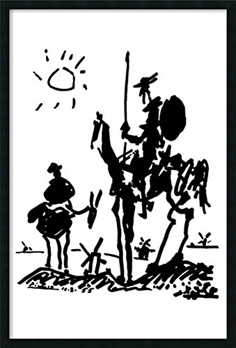 (Framed Art Print, 'Don Quixote' by Pablo Picasso: Outer Size 25 x 37