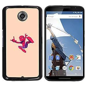 For Motorola NEXUS 6 / X / Moto X Pro Case , Cartoon Comic Flying Art - Diseño Patrón Teléfono Caso Cubierta Case Bumper Duro Protección Case Cover Funda