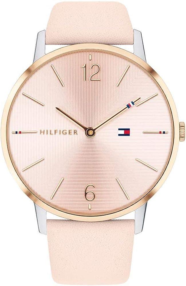 Tommy Hilfiger Reloj Analógico para Mujer de Cuarzo con Correa en Cuero 1781973