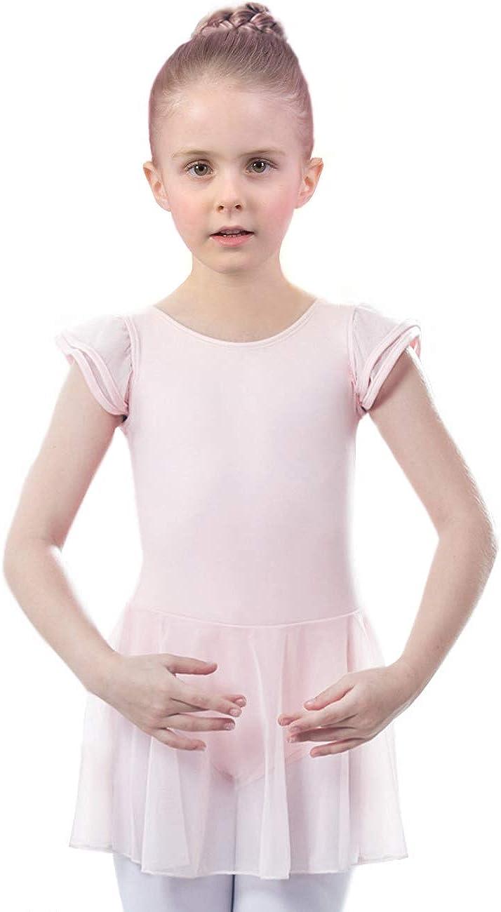 Ruffle Sleeve Skirted Dance Dress AUKARENY Ballet Leotard for Girls
