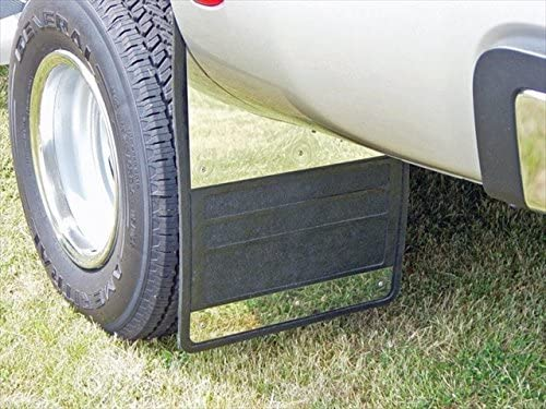 Owens 86RF201S 12 x 18 Single Wheel Rubber Mud Flap with Stainless Steel Insert Owens Products