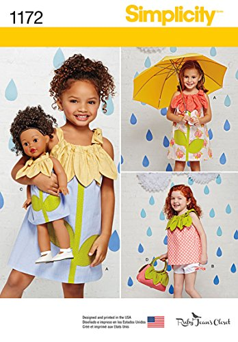 Buy matching girl and doll dress patterns - 5