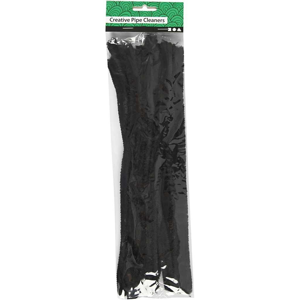 Limpia pipas 30 cm 50ud negro grosor 6 mm l