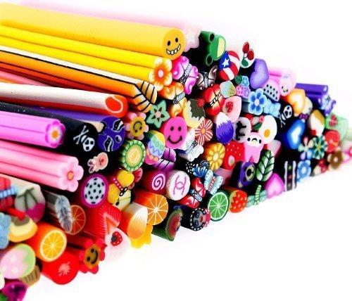 (Premium MASH 100 Pc Nail Art Nailart 3d Manicure Design Sticks Rods Stickers Gel Tips)