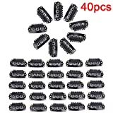 1 lot 40Pcs/Set U Shape Wig Clips For Hair Extension Cap Wig Fix Toupee Hairpiece Clips Hair Snap Clips Accessory Tools