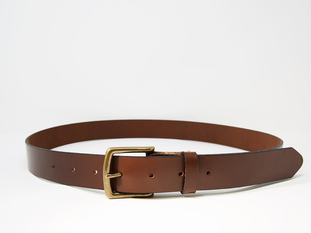 Chestnut Horween Dublin Leather belt Mens belt Stylish belt