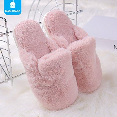 Antideslizamiento Zapatillas Cálido Hogar Zapatos Casa De Felpa Rosa Invierno Zapatillas Laxba qZHxwzBw