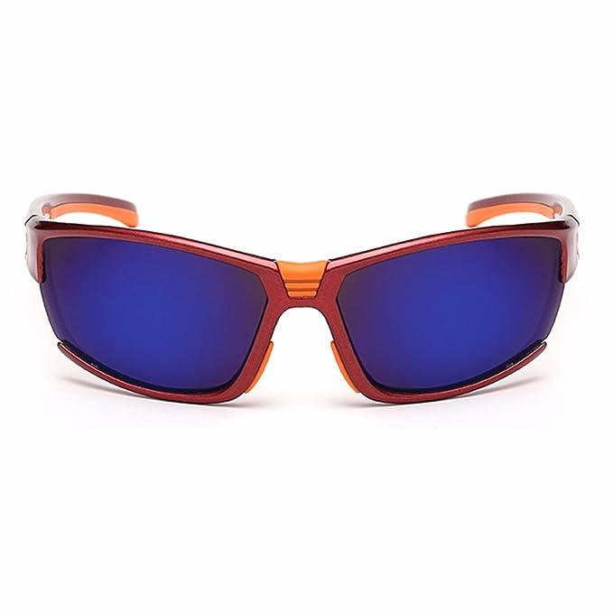 BLDEN Hombre Gafas De Sol Deportivas Polarizadas,TAC UV400 Proteccion Irrompible Ergonómico Flexible Para Deporte GL8506-D-RED