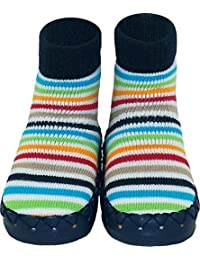 Konfetti Unisex baby Multi Stripes Moccasin