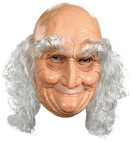 (Adult Old Man Full Vinyl Mask Costume)