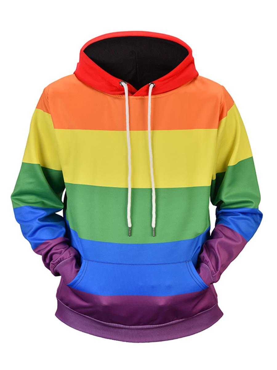 URVIP Unisex Realistic 3D Digital Print Pullover Hoodie Hooded Sweatshirts L6951 L by URVIP