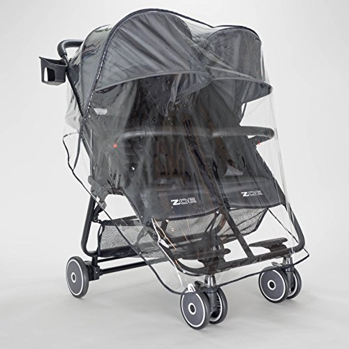 Zoe Xl2 Lightweight Double Stroller Tailored Raincover Import It All