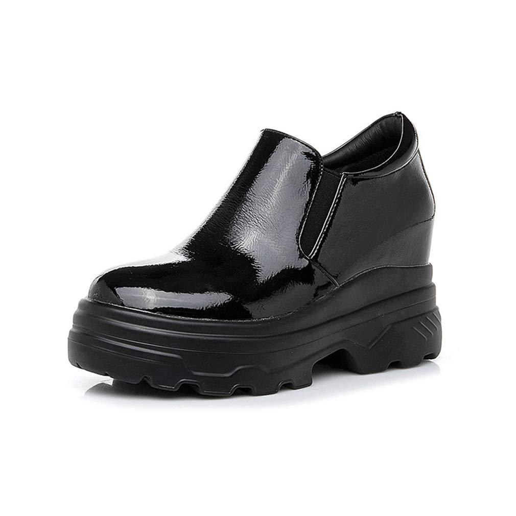YAN damen es Casual schuhe schuhe schuhe New Spring Loafers & Slip-Ons Low-Top PU Turnschuhe Walking schuhe Fashion Invisible Increase Lazy schuhe Weiß schwarz schwarz 34 917434