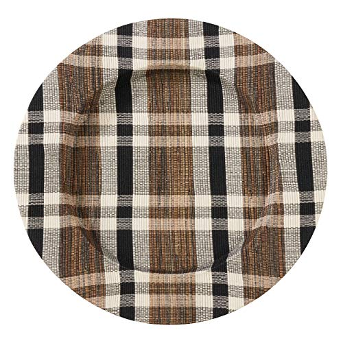 SARO LIFESTYLE CH805.N13R Kalama Collection 100% Water Hyacinth Plaid Woven Charger Plates (Set of 4), 13