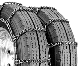 Security Chain Company QGV344HD Quik Grip V-Bar Type CTO Heavy Duty Truck Singles Tire Traction Chain - Set of 2
