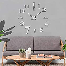 Wall Clocks - 3d Hanging Diy Design Numerals Dial Diameter Of 10cm Wall Clock Timer Acrylic - Nautical Personalized Design Vintage At Illuminated Musical On Rod Harry