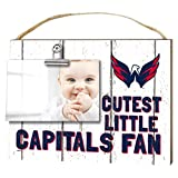 "KH Sports Fan 1001101667 10""x8"" Washington Capitals Clip It Weathered Baby Logo NHL Photo Frame"