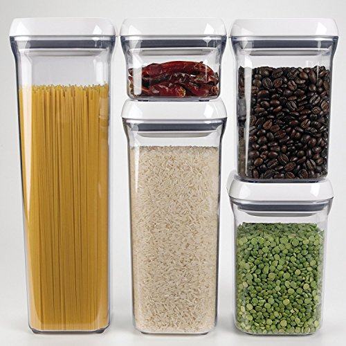 OXO Good Grips POP Square Food Storage Container, Big Square Lid, Short - 2.4 Qt