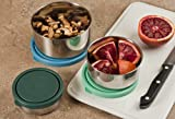 MIRA Set of 3 Stainless Steel lunch box and food storage containers, Multi Color