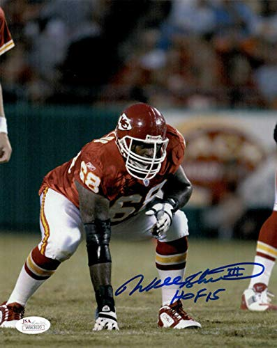 Will Shields Autographed/Signed Kansas City Chiefs 8x10 Photo HOF JSA