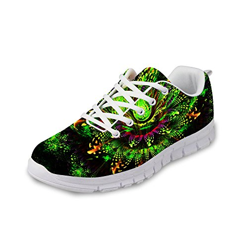 FOR U DESIGNS Casual Women's Comfortable Mesh Trail Tennis Skate Running Shoes Green US 10