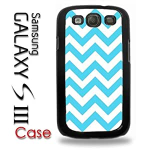 For Case Ipod Touch 5 Cover Plastic Case - Baby Blue Soft Blue and White Chevron Print